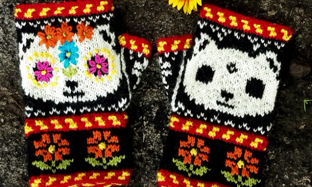 Knit a Pair of 'Meow de los Muertos Mitts' For Day of the Dead
