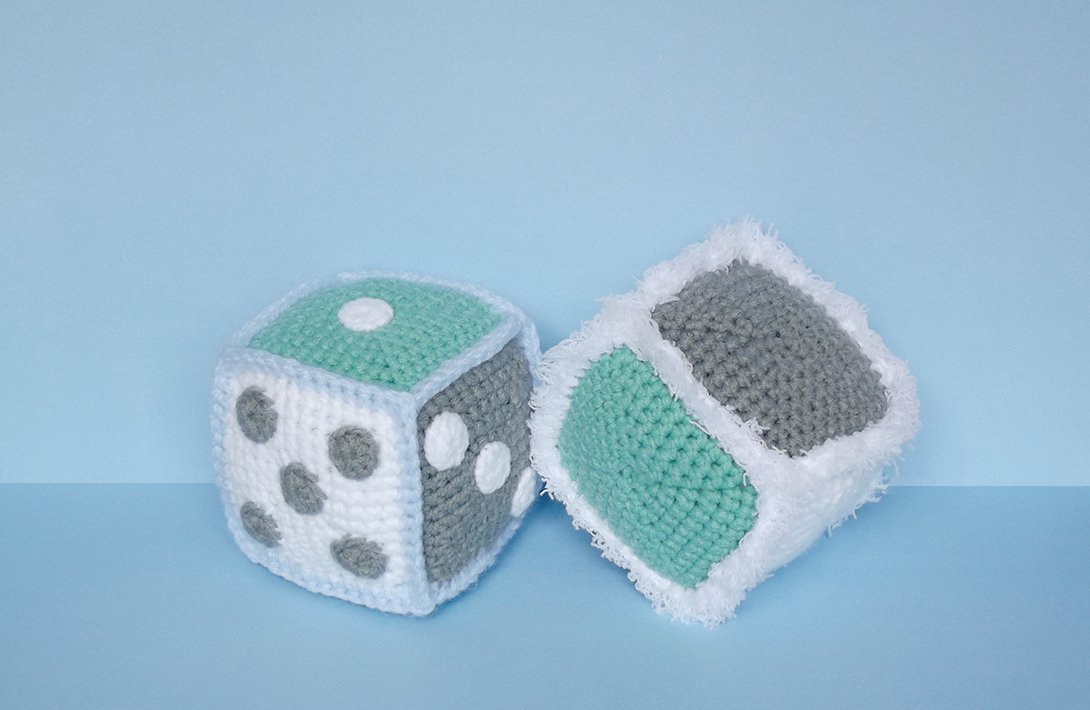 Crochet a Pair of Fuzzy Dice Designed For The 21st Century Maker - FREE Pattern Alert!