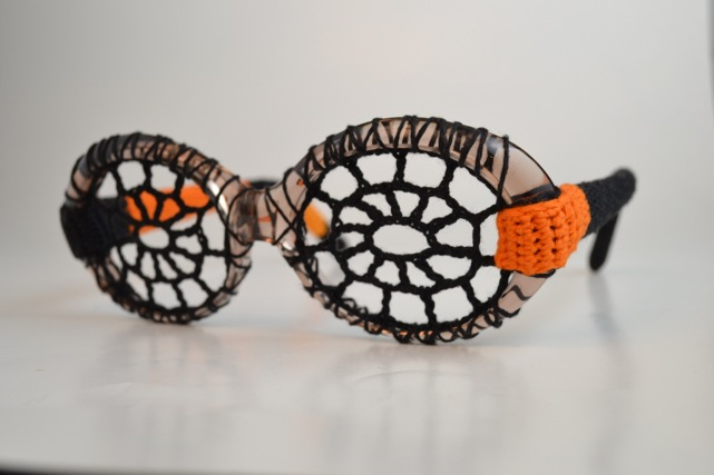 Crochet a Pair of Spiderweb Eyeglasses for Halloween Cosplay … Great DIY Idea!