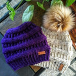 Knit or Crochet This Fresh Messy Bun Beanie For Winter, For Yourself or as the Perfect Gift!