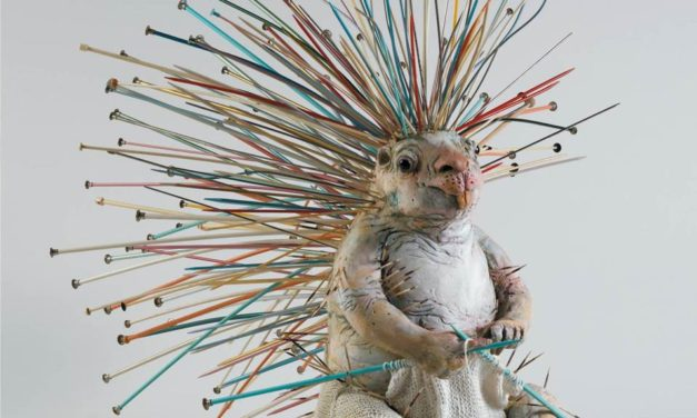 Do Porcupines Knit? In Baltimore-Based Artist Lois Hennessey's World, Yes, They Sure Do!