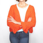 Free Sweater Pattern Alert: Crochet a Cute Flare Sleeve Cardigan