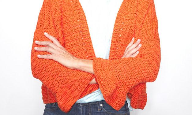 Free Sweater Pattern Alert: Crochet a Cute Flare Sleeve Cardigan