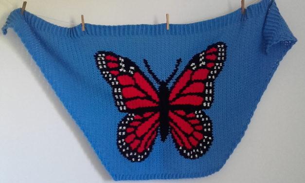 Crochet a Unique Monarch Shawl