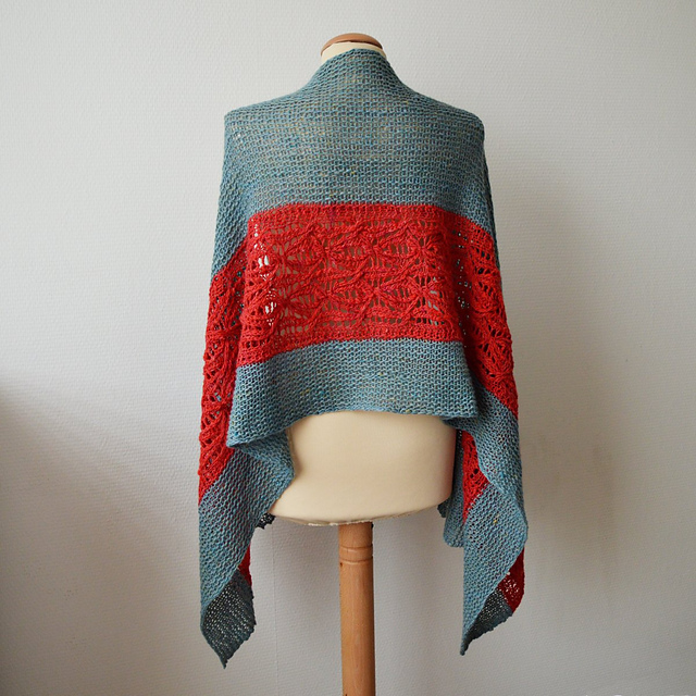 Sirac By Susanne Visch ... Possibly the Nicest Knit Stole Ever ... Get the Pattern, Have Fun With Color!