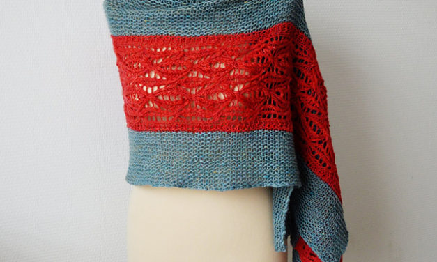 Sirac By Susanne Visch … Possibly the Nicest Knit Stole Ever … Get the Pattern, Have Fun With Color!