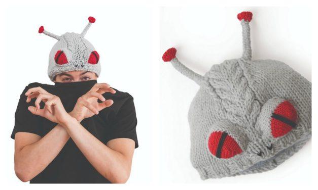 Knit an Alien Monster Beanie … FREE Pattern … EEK! Those Buggy Eyes!