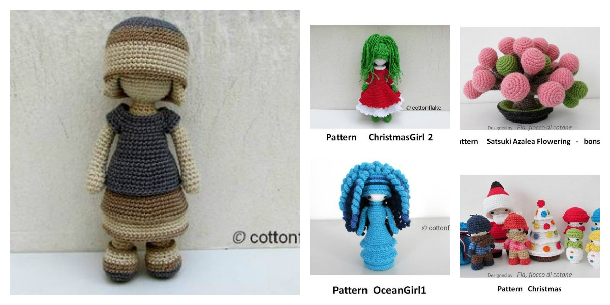 Designer Spotlight: Amigurumi Doll Patterns By Crochet Artist Cottonflake