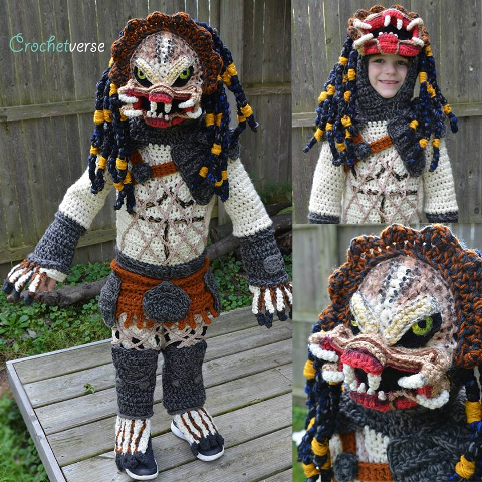 She Crocheted a Predator Costume For Her Kid ... It's The Cosplay To Top All Cosplays ... WOW!
