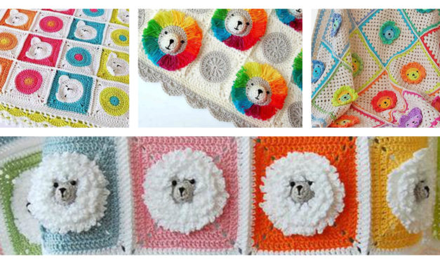 Crochet a Fun, Rainbow Lion Baby Blanket – It's 3D!