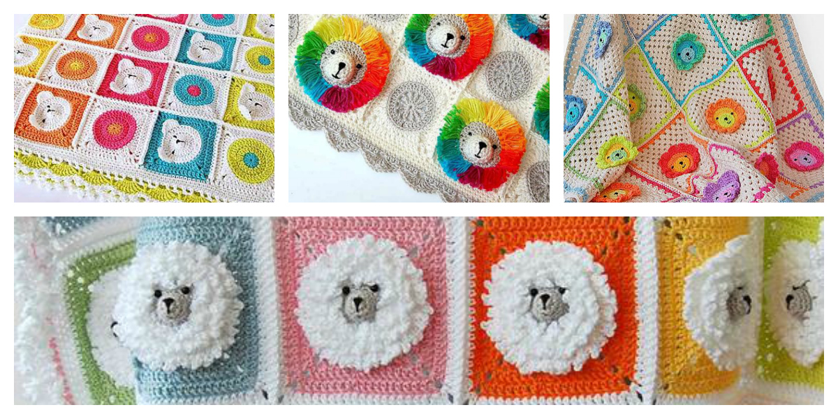 Crochet a Fun, Rainbow Lion Baby Blanket – It's 3D!