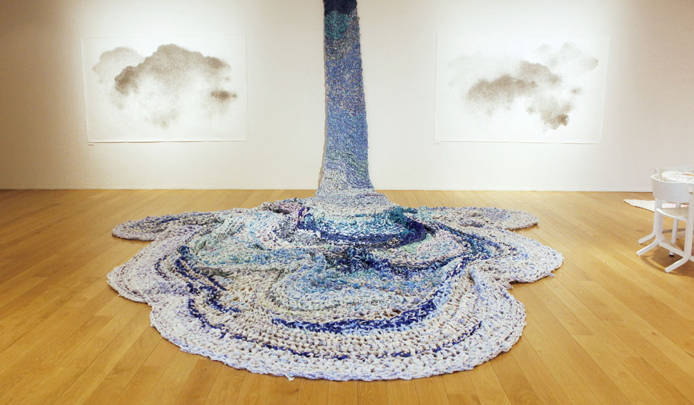 'The Great Blue' By Swedish Fiber Artist Hanna Holmgren