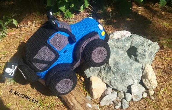 Crochet an Off Road 4×4 Jeep … Fun Plush Idea, Makes a Great Gift!