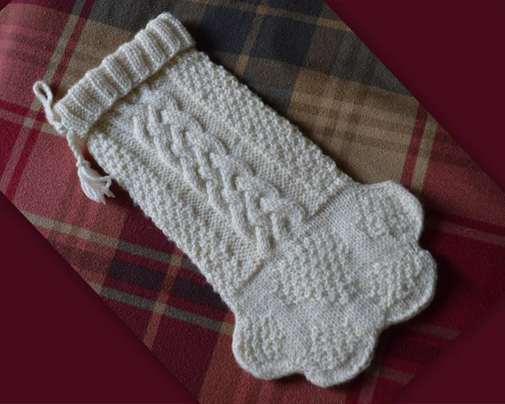 Knit a Paw Stocking Lovey