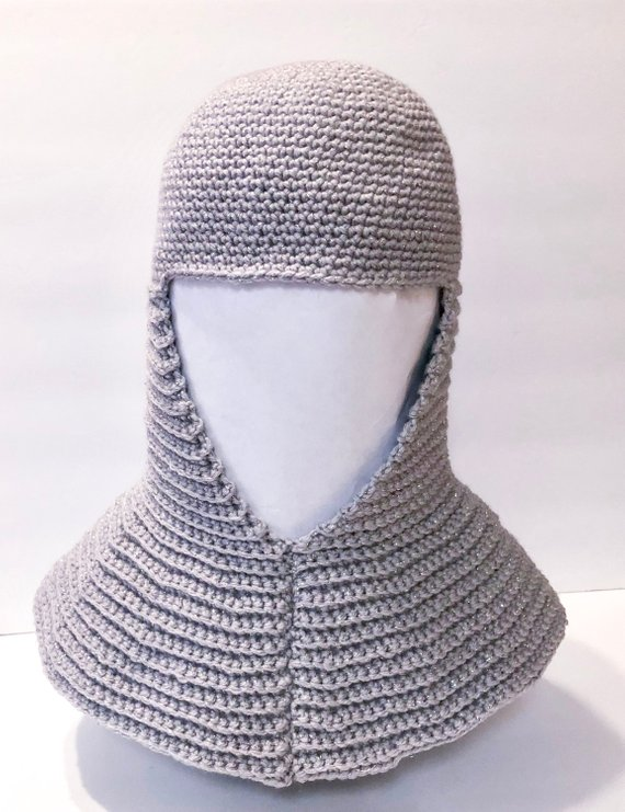 Crochet a Battle-Ready Chainmail Coif Headdress For Medieval Cosplay