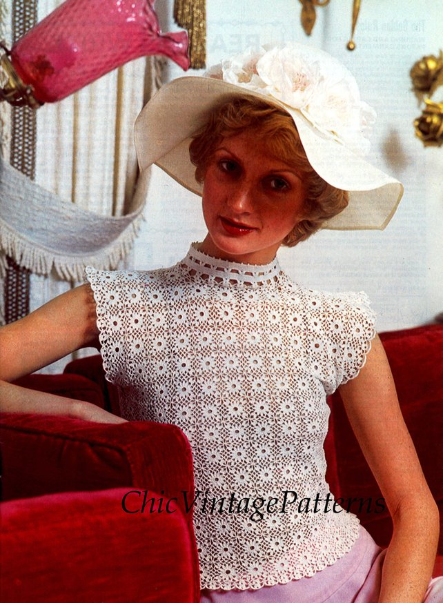 Get the vintage pattern from Chic Vintage Patterns via Ets