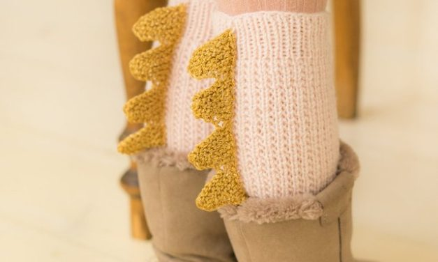 Knit a Pair of Adorable Dragon-Inspired Legwarmers … Comes in Adults Sizes Too! Perfect For Cosplay …
