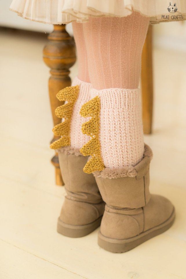 Adorable Dragon-Inspired Legwarmers ... Comes in Adults Sizes Too!