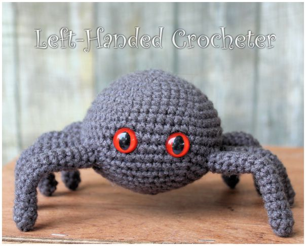 Crochet an Itsy Bitsy Spider With This Free Pattern From Left-Handed Crocheter