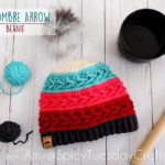 Crochet The Ombre Arrow Beanie With Colorful 'Caron x Pantone' Yarn