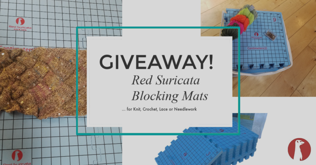 Special Giveaway For KnitHacker Readers: Red Suricata Blocking Mats - Blocking Matters!