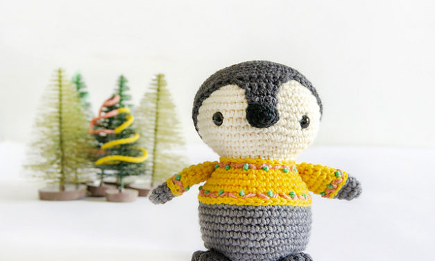 Crochet a Kobi the Penguin Amigurumi … He's Wearing a Sweater!