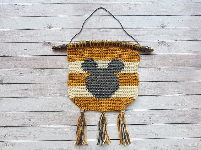 Crochet a Mickey Mouse-Inspired Wall Hanging