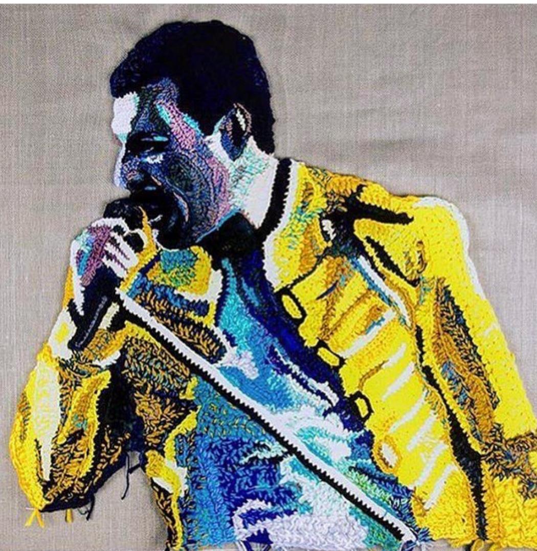 Freddie Mercury Portrait by Katika