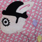 Embroidered Clockwork Bunny Embroidered by Saint Lucy Belle