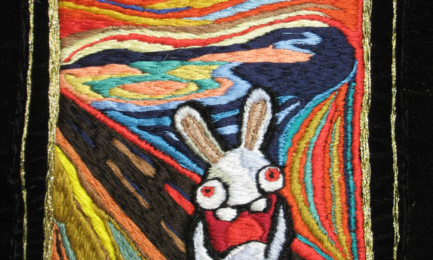 Edvard Munch's 'Scream' Embroidered and Bunnified!