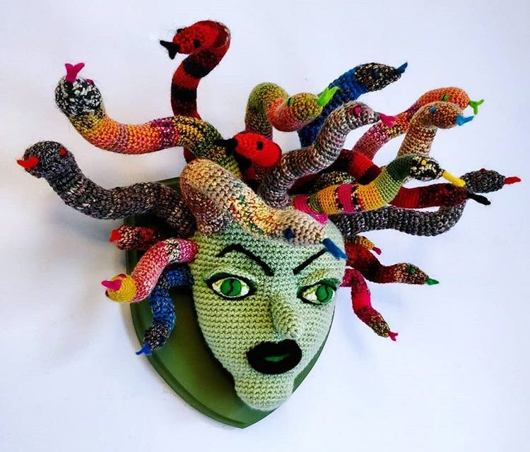 Laura Cameron's Breathtaking Medusa Trophy Head … All In Crochet!