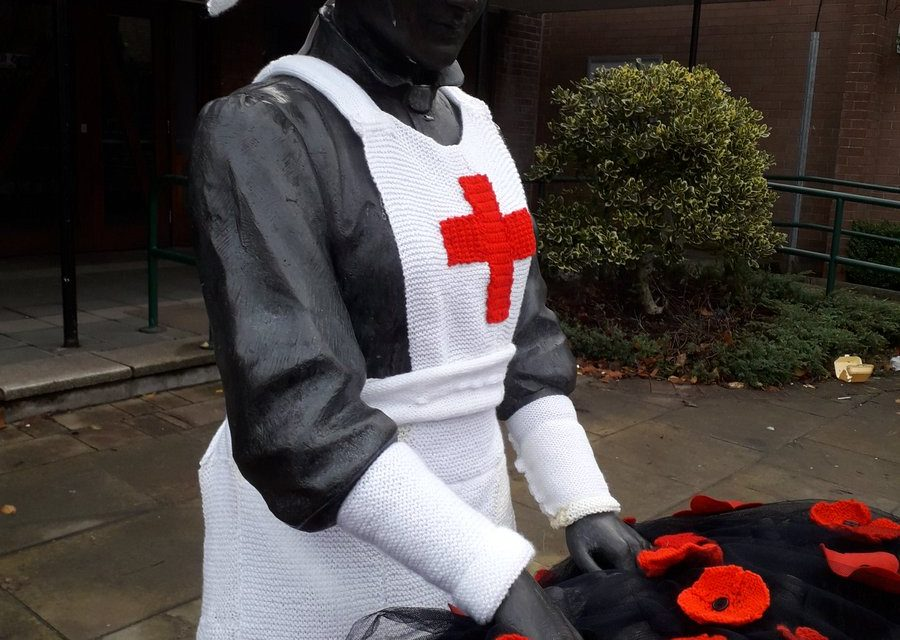 Tameside Remembers … Knitted Remembrance Day Memorial in England