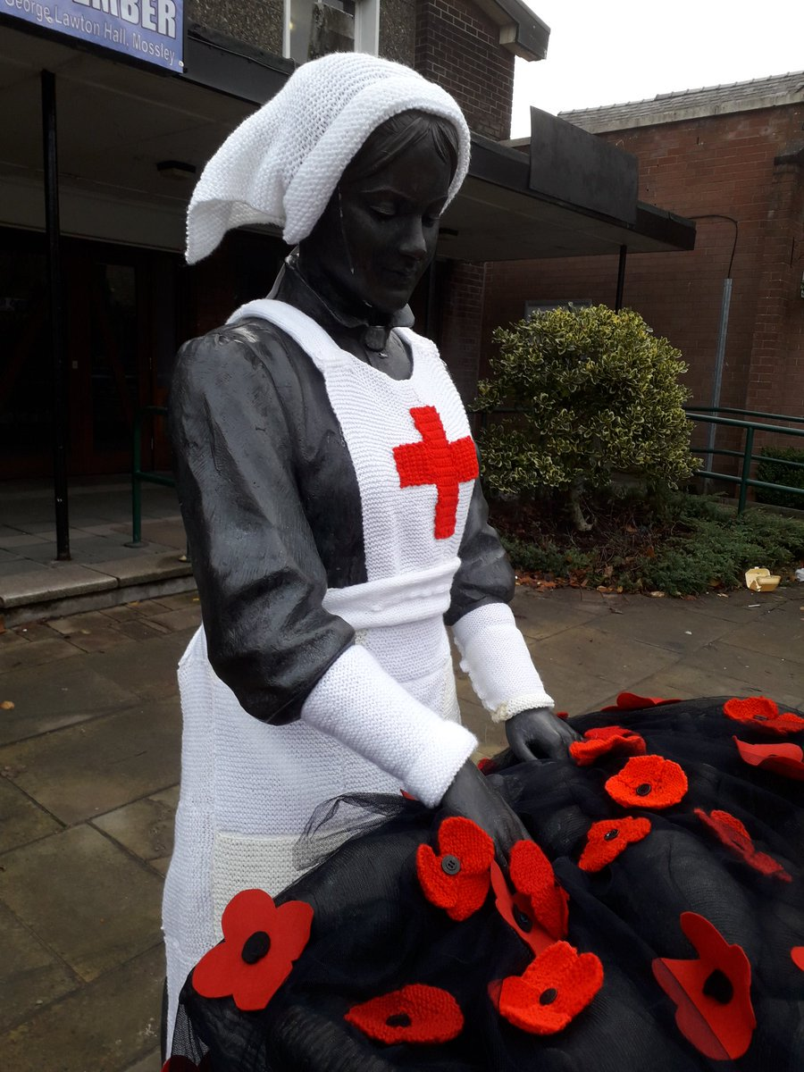 Tameside Remembers ... Knitted Remembrance Day Memorial in England
