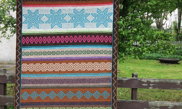 The Indiana Afghan Designed by Tinna Thorudottir Thorvaldar is Very Versatile … You Can Do It!