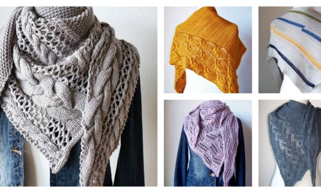 Designer Spotlight: Unique Knitted Shawls Designed By Melanie Mielinger, Patterns in English & German!