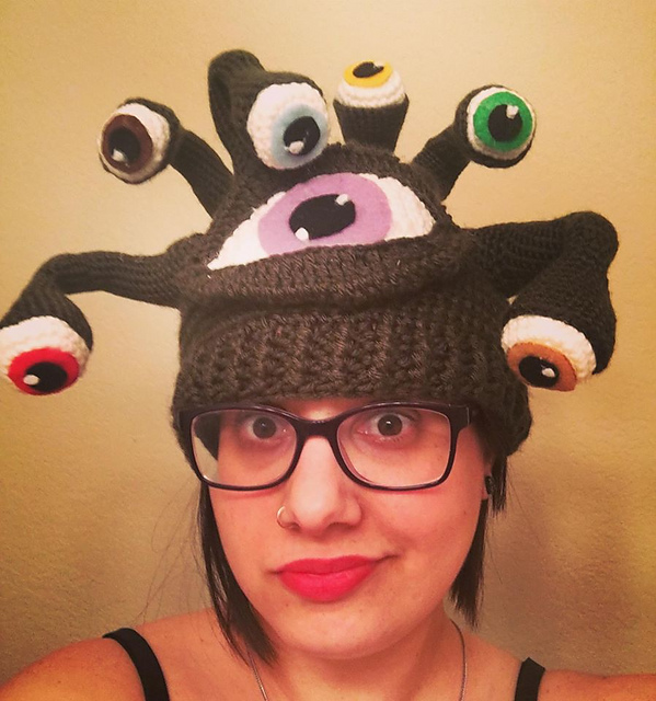 Crochet an Eye of the Beholder Hat ... This is Cosplay Genius!