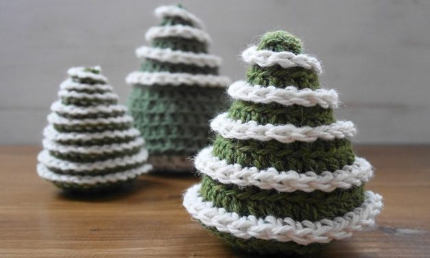 Crochet a Cute Little Christmas Tree in Time For the Holidays … The Pattern is Free!