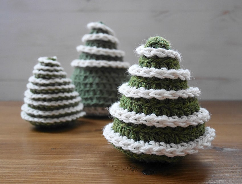 Crochet a Cute Little Christmas Tree in Time For the Holidays ... The Pattern is Free!