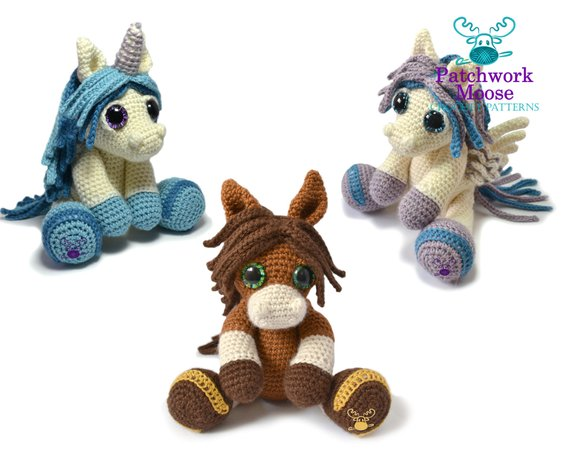 Get the crochet amigurumi pattern from Patchwork Moose