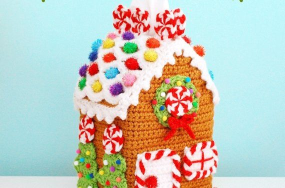 Twinkie Chan's Gingerbread House Tissue Box Cozy … Get the Pattern, Just in Time For the Holiday Season!