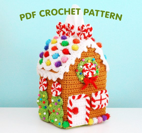 Twinkie Chan's Gingerbread House Tissue Box Cozy ... Get the Pattern, Just in Time For the Holiday Season!
