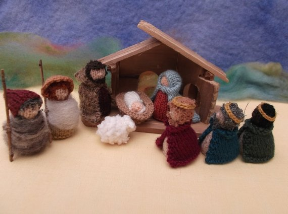 Knit a Miniature Nativity Scene With This Pattern From Sachiyo Ishii