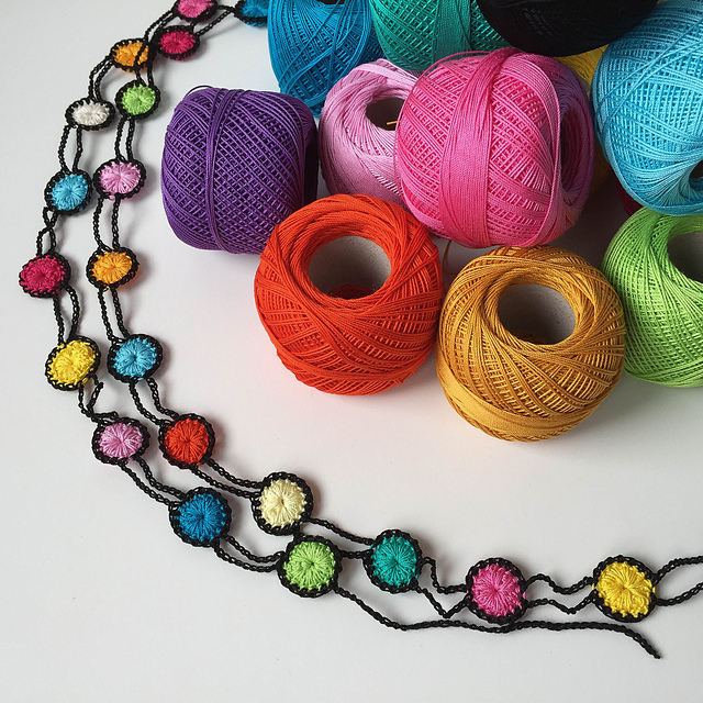 Colorful Crochet Necklace ... The Pattern is Free!