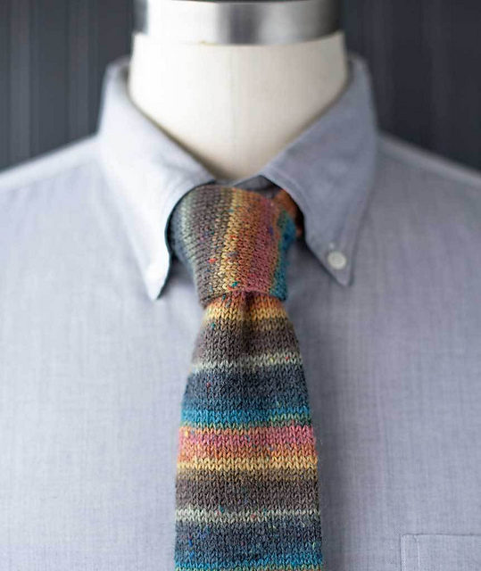 Knit a Handsome Necktie … Makes a Great Gift and the Pattern is FREE!