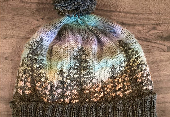Knit a Hat That Looks Like a Bob Ross Painting …