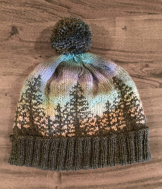 Knit a Hat That Looks Like a Bob Ross Painting ...