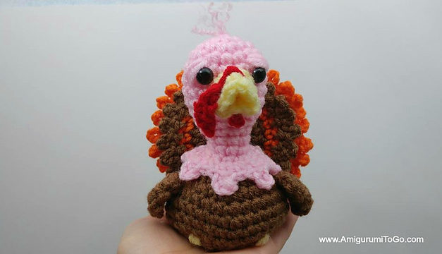 It's Time To Crochet a Thanksgiving Turkey Amigurumi, Pattern Designed by Sharon Ojala