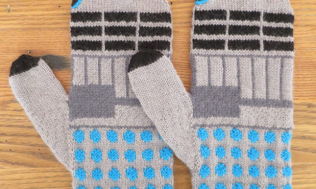 Oh, my Whovians! Knit a Pair of Dalek Mittens With a Free Pattern!
