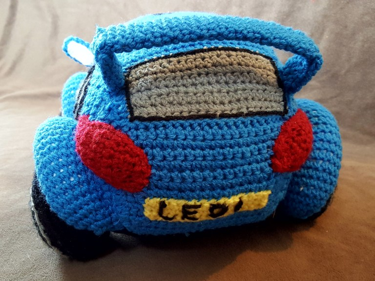 Free Crochet Race Car Pattern By Hooks and Dragons