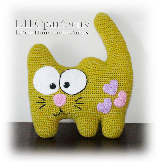 Crochet a Goofy Cute Kitty-Cat Pillow ... So Funny, Adorable and 100% Giftable